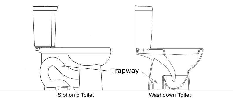 Siphonic vs Washdown Toilet