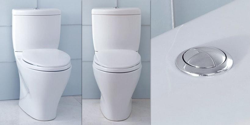 TOTO Aquia Dual Flush Elongated 2-Piece Toilet