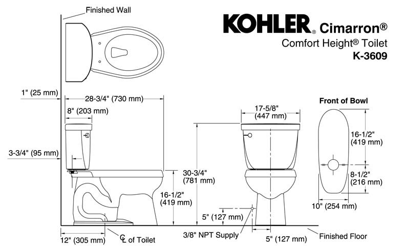 Dimensions Of Elongated Toilet Stealth Dual Flush Ultra High