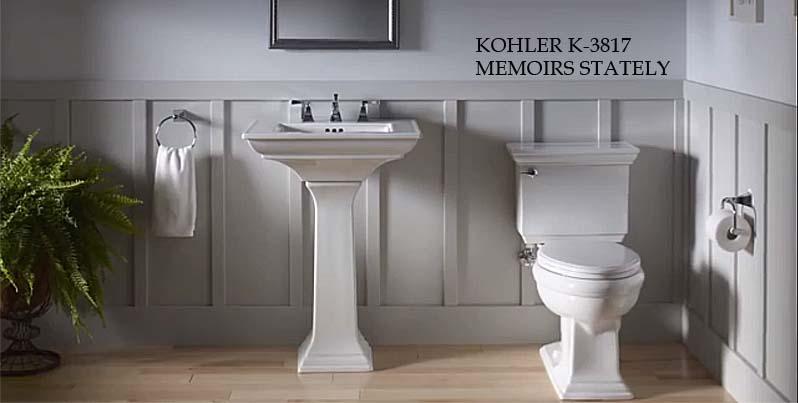 KOHLER K-3817-0 Memoirs Stately Toilet
