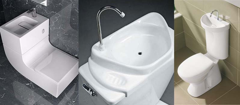 Save water and money with a toilet sink combo - Japanese toilet bidet combination ...