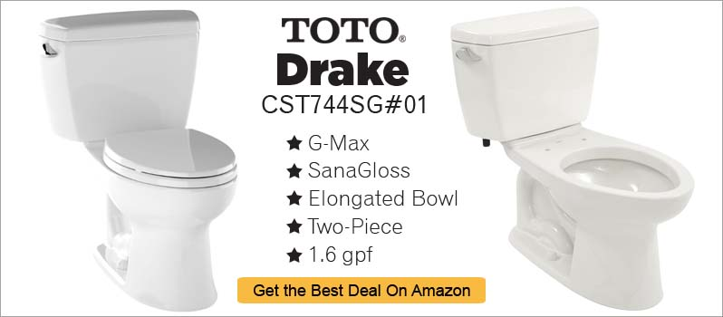 Two Piece Toilet Review TOTO Drake CST744SG01