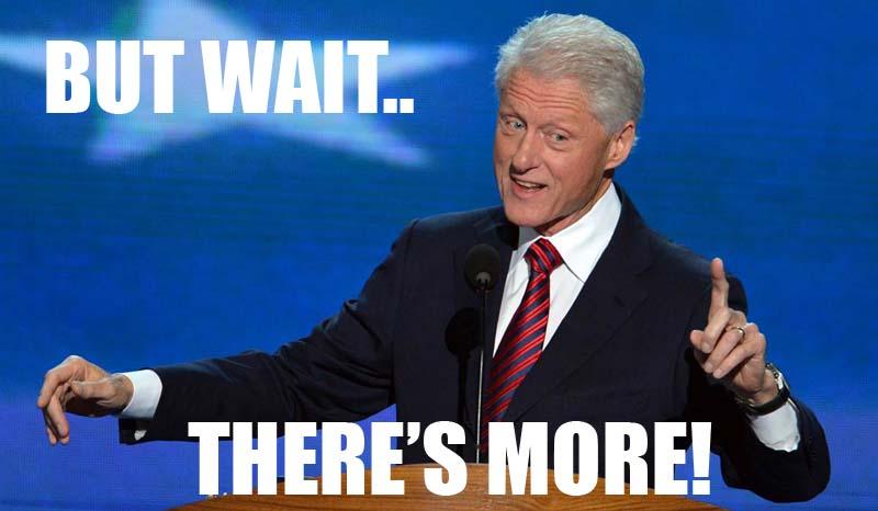 Clinton on Galba toilet
