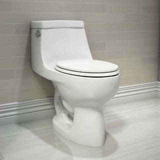 Easier to clean one-piece toilet