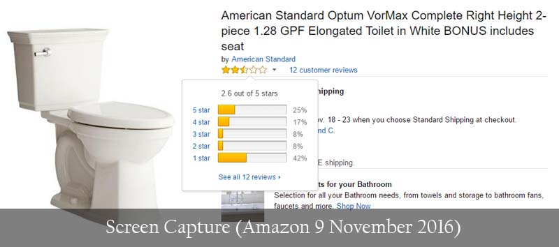 American Standard VorMax ActiClean Right Height Elongated Toilet