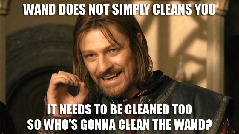 Wand Cleaning