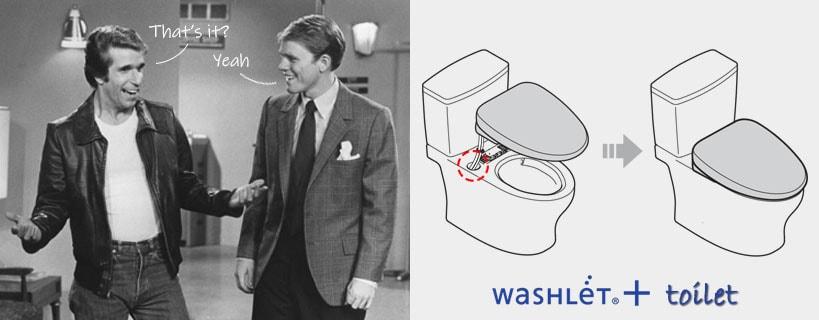Washlet+ toilet