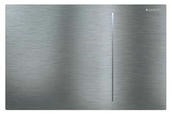 Geberit 115.625.FW.1 Sigma70 Flush Plate Brushed stainless steel flush plate with no seams