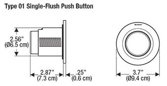 Geberit Type 01 Single Flush Button Dimension
