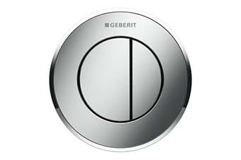 Geberit 116.055.KH.1 Type 10 Flush Button Matte chrome finish with polished chrome accent