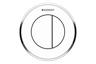 Geberit 116.056.KJ.1 Type 10 Flush Button Alpine White with polished chrome trim