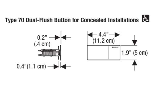 Geberit Type 70 Flush Button Dimension