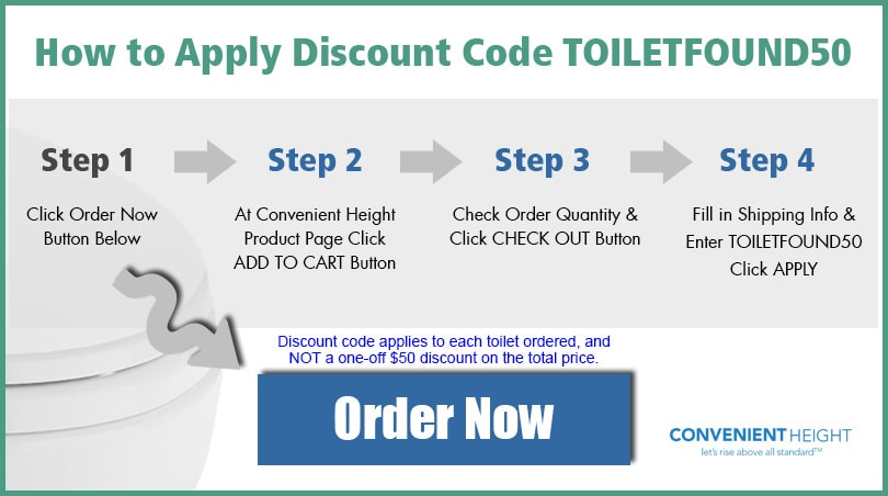 Convenient Height Toilet Pre-Order