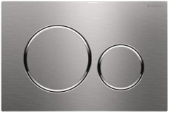 Geberit 115.889.ID.1 Sigma20 Flush Plate Brushed Nickel Polished Chrome