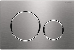 Geberit 115.889.SN.1 Sigma20 Flush Plate Brushed Stainless Steel With Polished Chrome