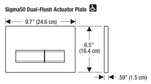 Sigma50 Flush Plate Dimension