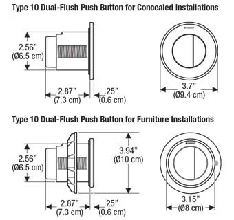 Geberit Type 10 Flush Button Dimension