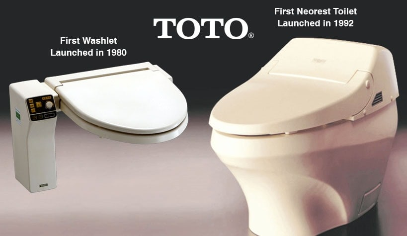 TOTO's First Washlet & Neorest Toilet