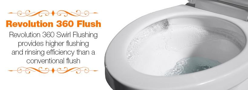 Revolution 360 Swirl Flush Technology