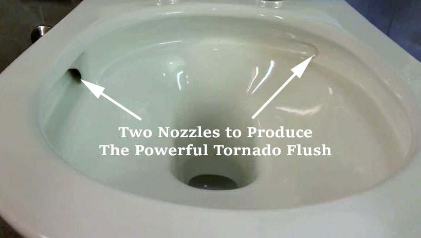 Tornado Flush Bowl Design