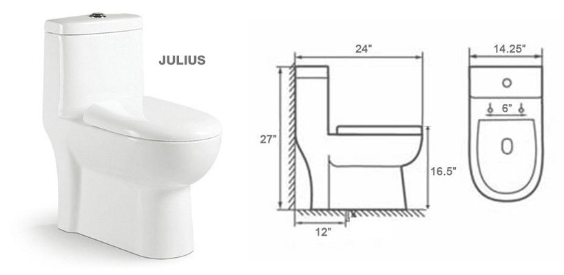 Julius 24-inch Toilet