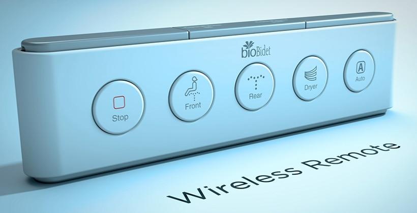 Wireless Remote Control of Bio Bidet's Discovery DLX Bidet Toilet